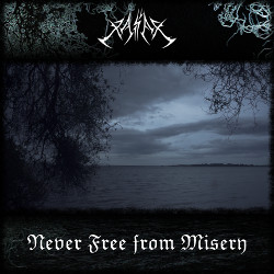 Never Free from Misery, black metal album cover